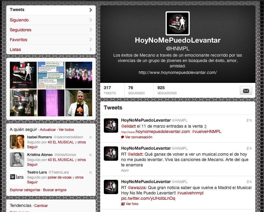 HNMPL en Twitter