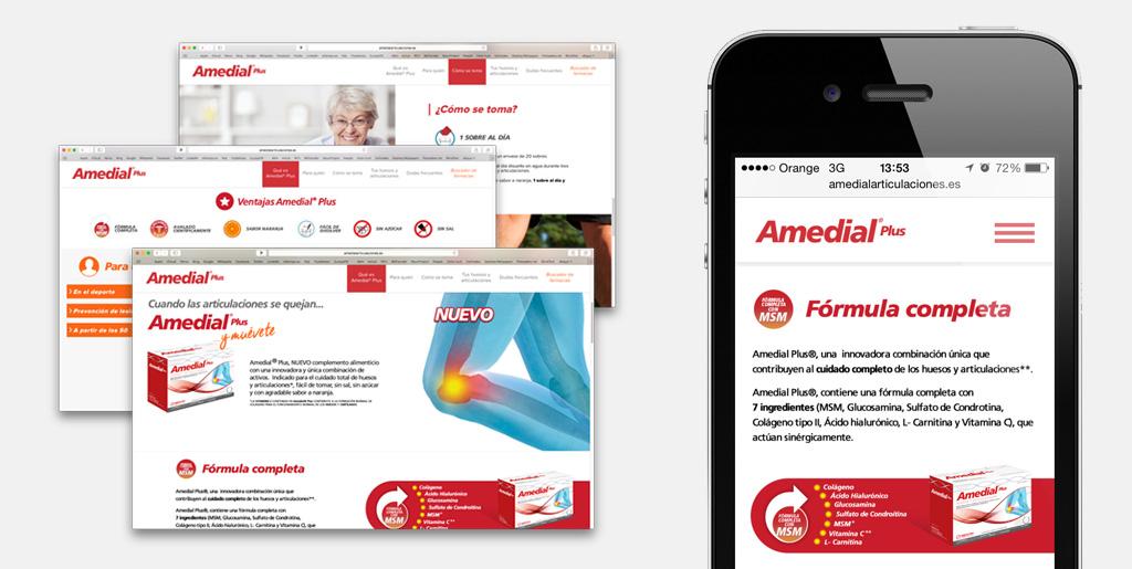 Amedial Diseño responsivo para Mobile