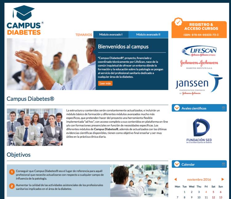 Campus Diabetes, formación para los profesionales de la Patología